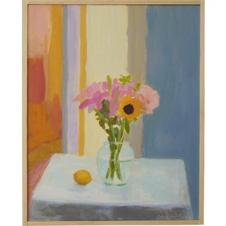 "Anne Carrozza Remick ""Bouquet With Lemon"" Original Painting"