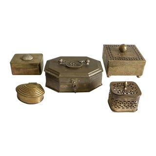 Brass Box Collection - Set of 5