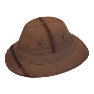 Vintage Colonial British Polo Helmet