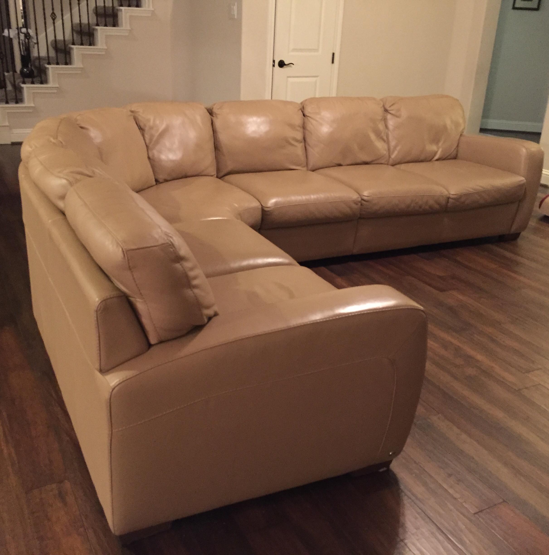 Natuzzi Leather Sectional Sofa   Image 2 Of 4