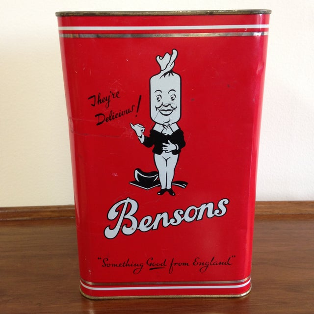 Vintage Bensons Candy Canister - Image 3 of 9