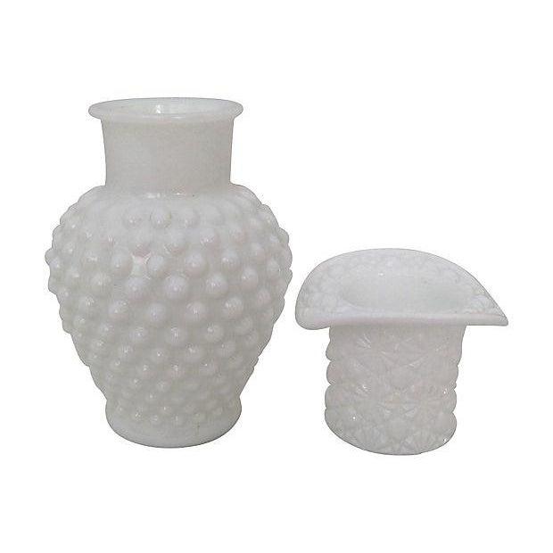 Milk Glass Bowls & Vases- Set of 6 - Image 4 of 6