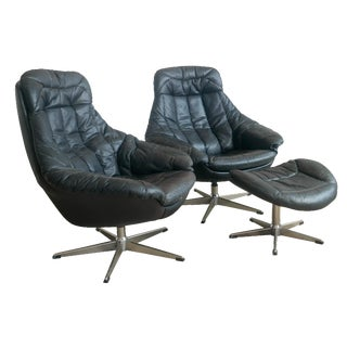H.W. Klein for Bramin 2 Lounge Chairs & Ottoman