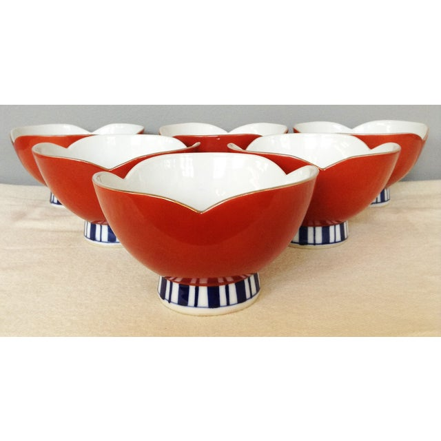 Image of Japanese Rice Bowls - Set of 6