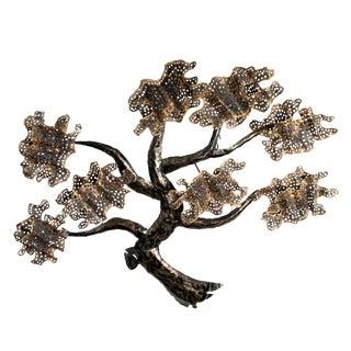Brass And Metal Tree Wall Art Sculpture