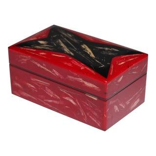 Mid-Century Red & Black Laquer Box