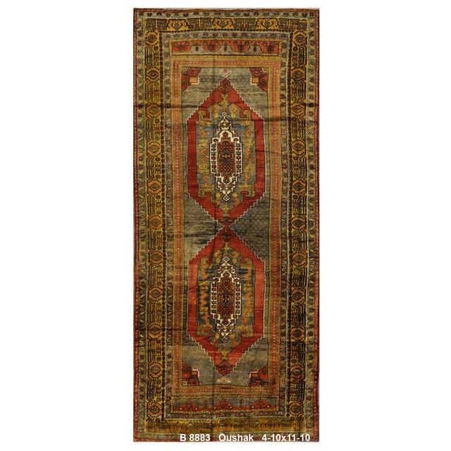 """Vintage Turkish Oushak Rug - 4'10"""" x 11'10"""" - Image 1 of 4"""