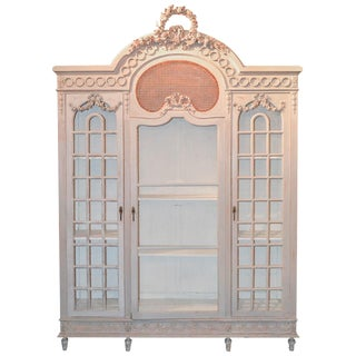 19th Century French Louis XVI Painted Display Cabinet