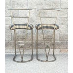 Image of Milo Baughman Bar Stools - A Pair