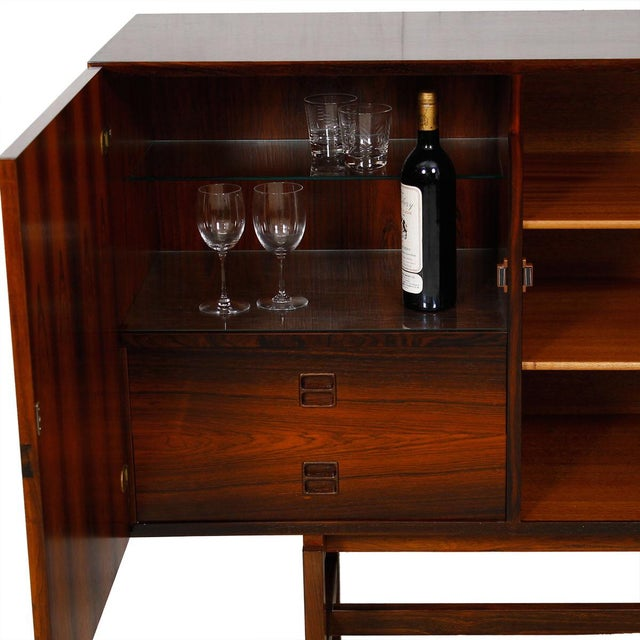Ib Kofod-Larsen Danish Modern Rosewood Highboard - Image 5 of 10