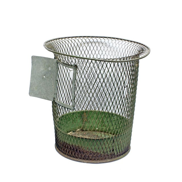 Image of 1930s Nemco Wire Wastebasket