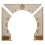 Image of Chinese Arch-Shaped Wooden Panels - Set of 3