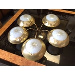 Image of Mid-Century Atomic 50s Brass Chandelier