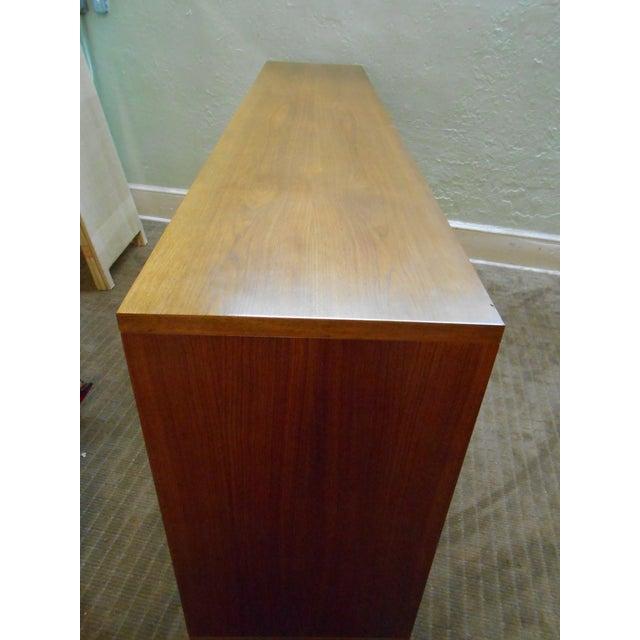 Image of Danish Modern Walnut Tall Credenza Sideboard
