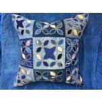 Image of Tribal Patchwork Antique Indigo Textile Pillow