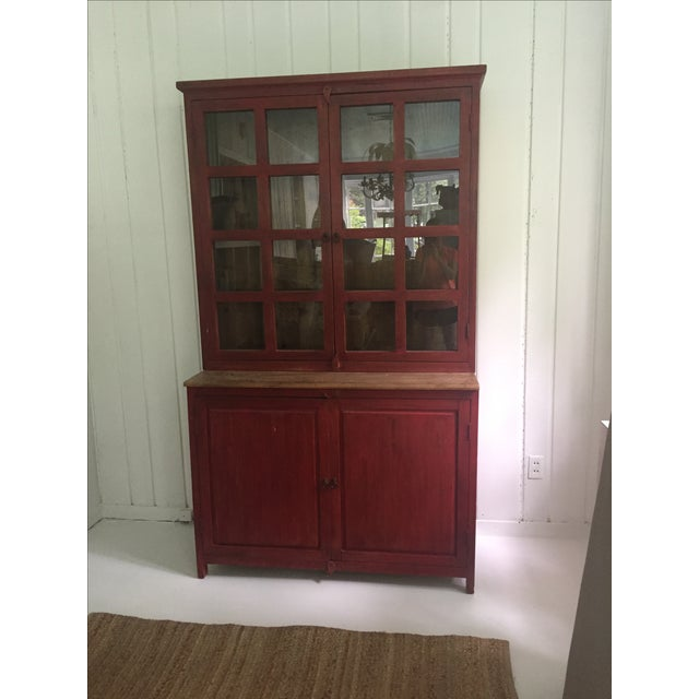 Red Farm Style 2 Piece Pine China Cabinet - Image 2 of 11