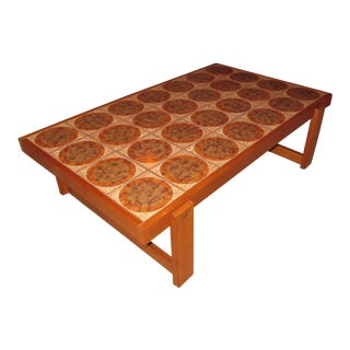 Danish Modern Tile Top Coffee Table