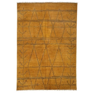 "Moroccan Hand Knotted Area Rug - 6'1"" X 8'10"""