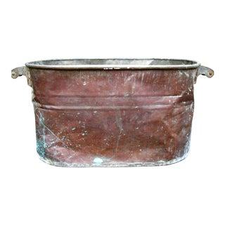 Vintage Copper Boiler/Tub Hominy Pot