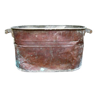 Vintage Copper Boiler/Tub Hominy Pot