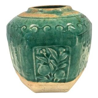 Antique Green Glazed Chinese Vase