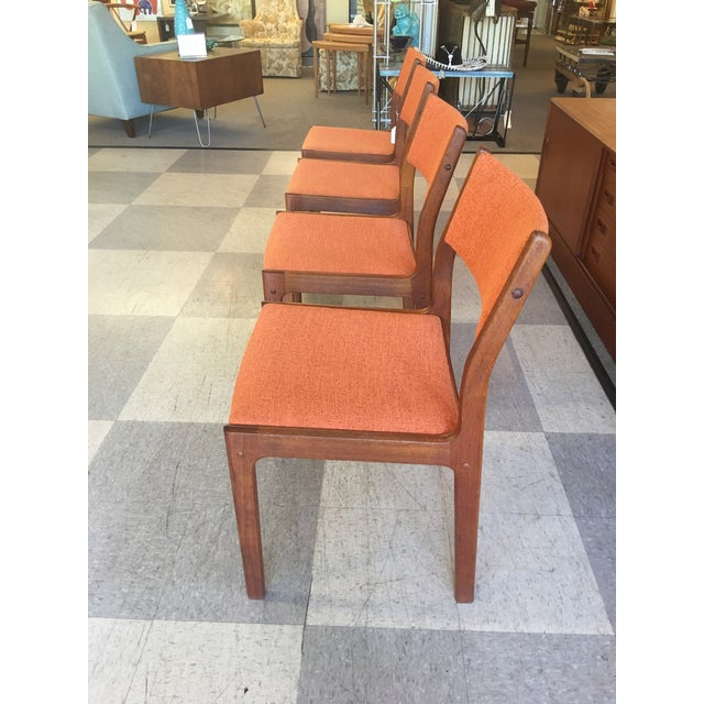 Mid-Century Teak Dining Chairs - Set of 4 - Image 3 of 8