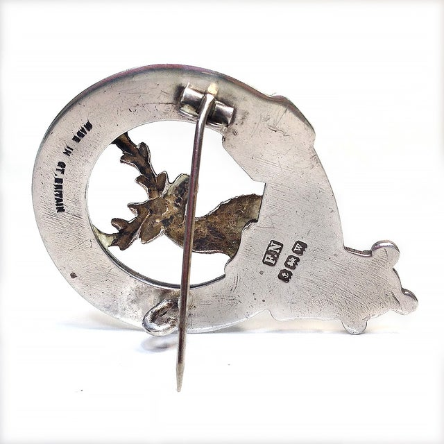 Image of Sterling Clan Fraser of Lovat Brooch