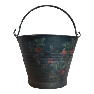 Antique Painted Fruit Bucket