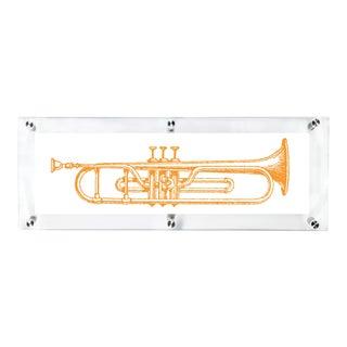 Mitchell Black Home Orange Trumpet Art