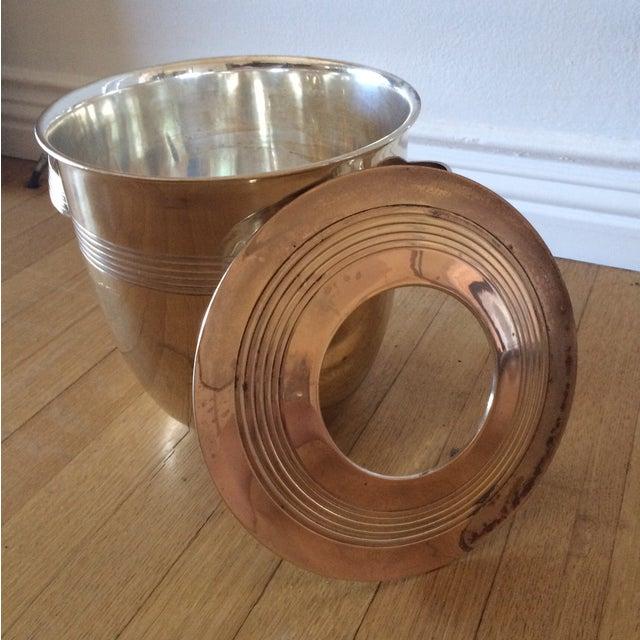 Image of Vintage Art Deco Brass Lidded Ice Bucket