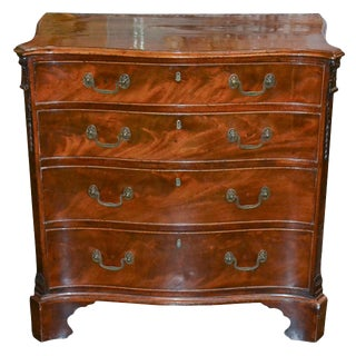 19th C. English Shaped Chest of Drawers