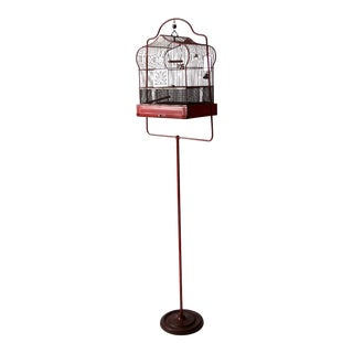 antique Cron bird cage with stand