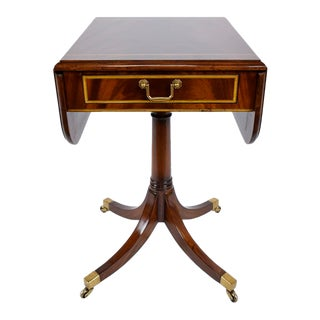 Antique English Pembroke Mahogany Side Table