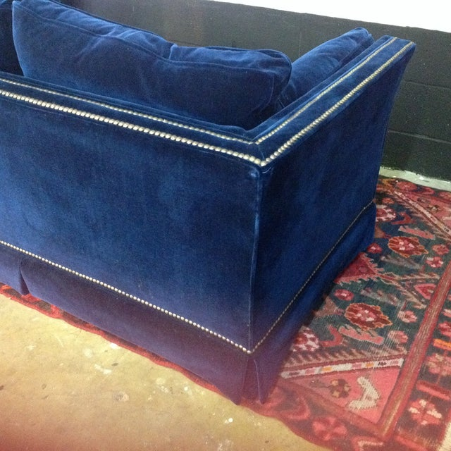 Blue Velvet Loveseat By Frederick Edward Chairish