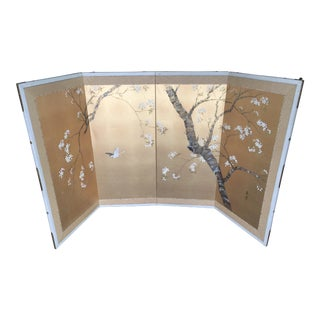Handpainted Japanese Byobu Screen Double Sided Signed