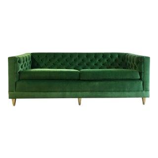 Green Velvet Tuxedo Sofa
