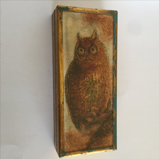 Mid-Century Distressed Owl Box - Image 2 of 9