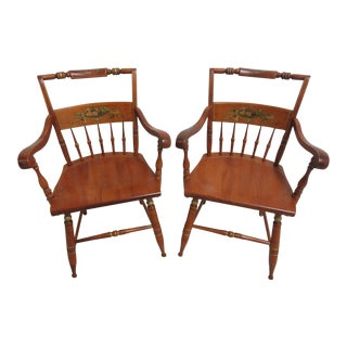 Bent Brothers Hitchcock Paint Style Dining Chairs - A Pair