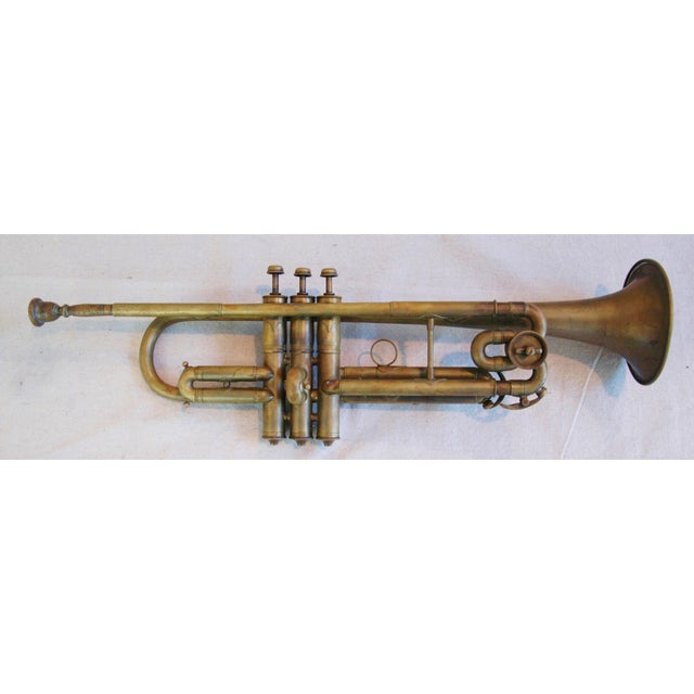 Antique Brass Trumpet Horn - Image 2 of 8