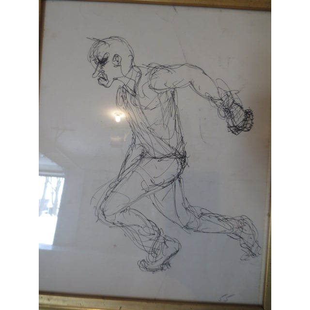 Image of Drury Pifer Pen & Ink Figure Study Drawing