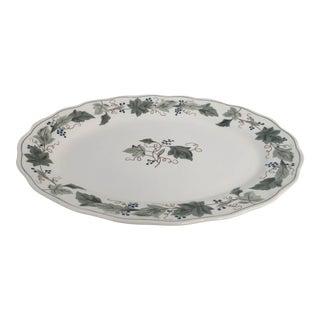 "Grape Wine Design ""Double Phoenix"" ironstone Platter"