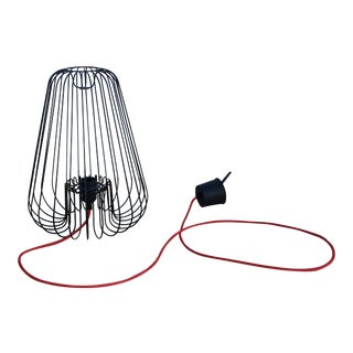 French Modern J. Deris Black Lampe Cage