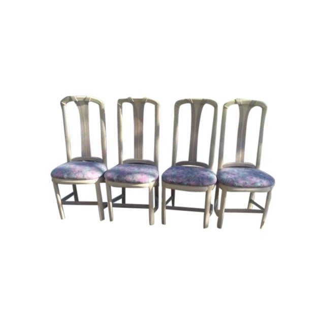 Floral Dining Room Chairs - Set of 4 - Image 1 of 4