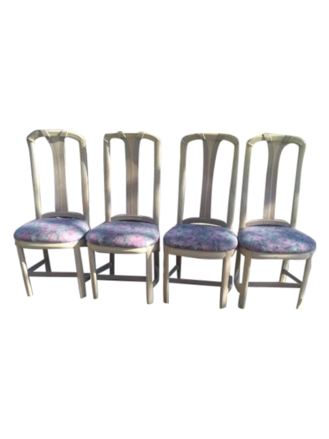 floral dining room chairs set of 4 chairish