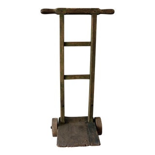 Antique Rustic Grain Feed Dolly