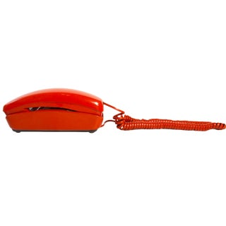 Orange Trimline Desk Phone by Western Electric