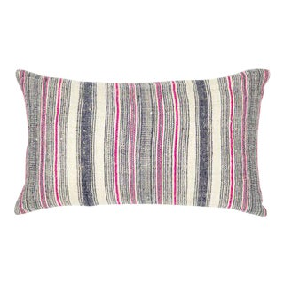 Hmong Pink Hemp Pillow