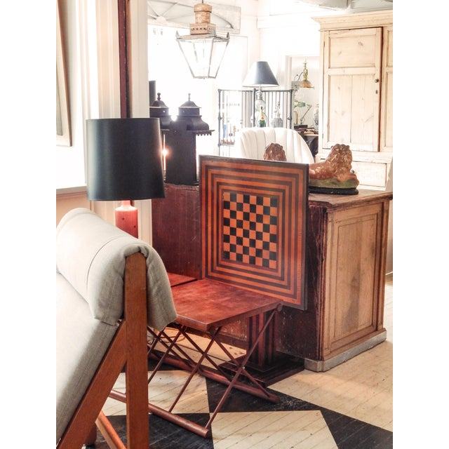 Checkered Tilt Top Table - Image 7 of 7