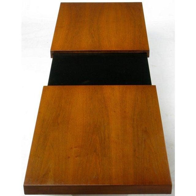 Walnut & Micarta Expanding Top Coffee Table By John Keal - Image 7 of 7