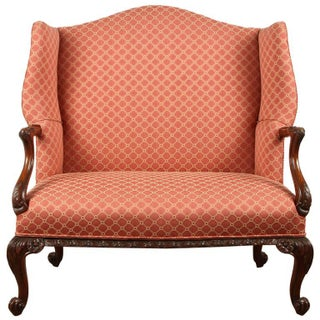 Finely Carved English Victorian Upholstered Settles
